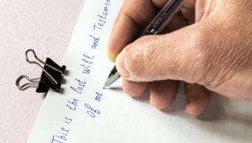 Echtheitsprüfung für ein handschriftliches Testament