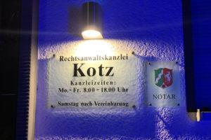 Eingang Kanzlei Kotz