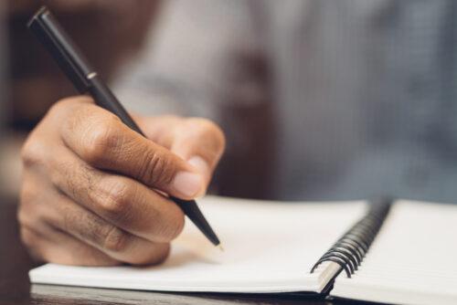 Wirksamkeit eines Testaments auf einem Notizzettel